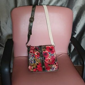 "Patricia Nash crosbody Italian leather 10x9x2"""